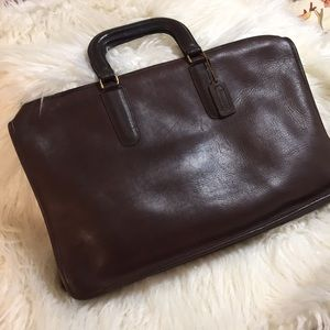 Vintage Coach Briefcases Chocolate Brown